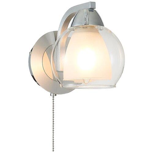 Бра Citilux Кристи CL152317, E27, 75 Вт, кол-во ламп: 1 шт., цвет арматуры: серебристый, цвет плафона: бесцветный бра cl152317 кристи алюм хром