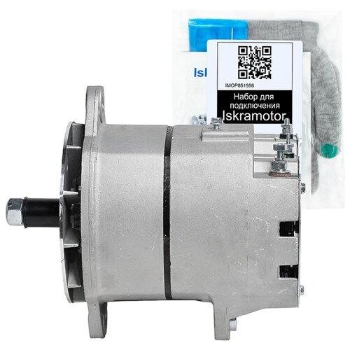 Генератор Iskramotor IMA206069 с набором для подключения для двигателей Cummins различных серий и Caterpillar 3508, 3412, 3306, 3512C, которые устанавливаются на экскаваторы Caterpillar, карьерные самосвалы БелАЗ, Caterpillar. Cummins 3400698, CAT 3167251, 19011153. 24В 100A