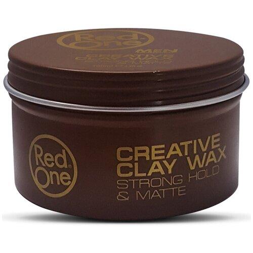 RedOne Матовая глина-воск для волос сильной фиксации Creative Clay Wax STRONG HOLD & MATTE, 100 мл  - Купить