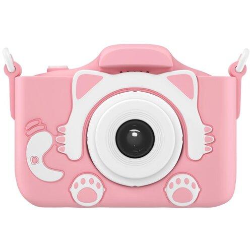 Фото - Фотоаппарат GSMIN Fun Camera Kitty с фронтальной селфи камерой и развивающей игрушкой для детей розовый фотоаппарат children s fun camera микки с wi fi красный
