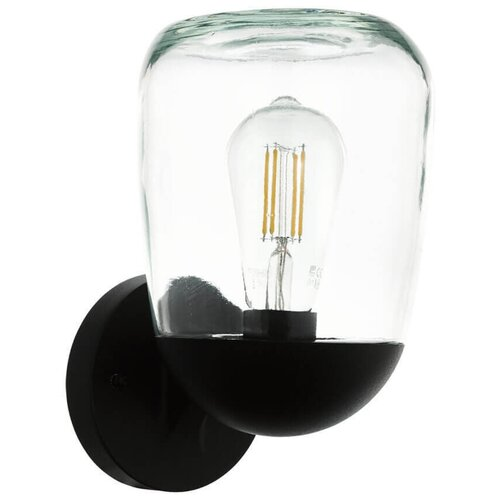 Eglo Уличный настенный светильник Donatori 98701, E27, 60 Вт, цвет арматуры: черный светильник eglo obregon 95384 e27 60 вт