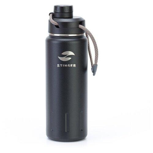 Термобутылка STINGER HD-710-46, 0.71 л черный карбон