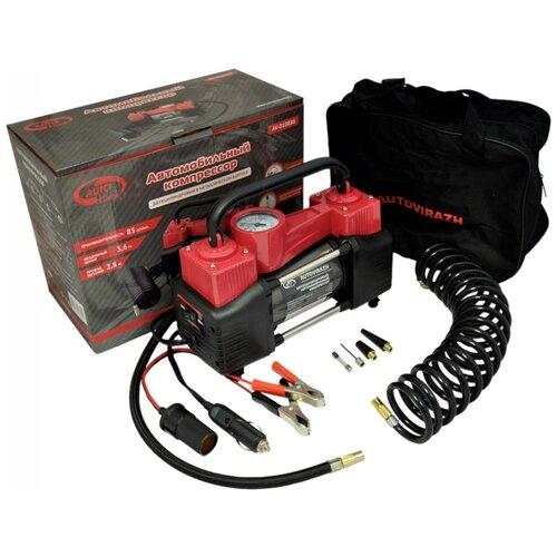 Автомобильный компрессор AUTOVIRAZH AV-010888 красный/черный