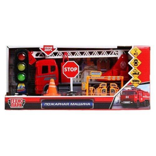 Купить Пожарная машина Техно Парк 22 см со светофором., ТЕХНОПАРК, Машинки и техника