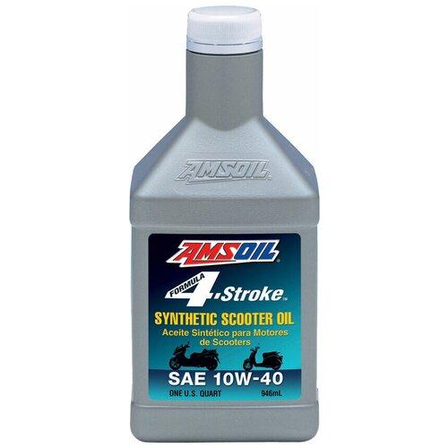 Фото - Синтетическое моторное масло AMSOIL Formula 4-Stroke Synthetic Scooter Oil 10W-40, 0.946 л синтетическое моторное масло amsoil synthetic 2 stroke injector oil 3 78 л