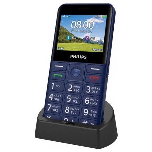 Фото - Телефон Philips Xenium E207, синий телефон philips xenium e117