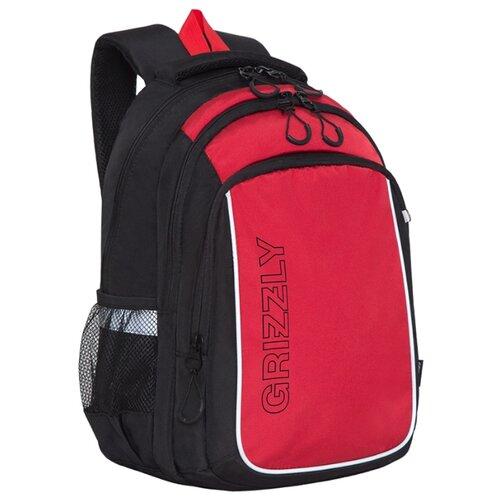Купить Grizzly Рюкзак (RB-152-1), черный/красный, Рюкзаки, ранцы