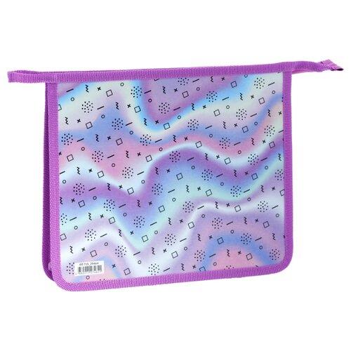 Купить ArtSpace Папка для тетрадей Cosmic, А5, на молнии, пластик фиолетовый, Файлы и папки