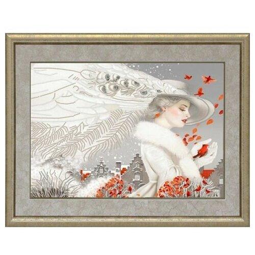 Купить Рисунок на ткани «Конёк» 9457 Леди в белом, 29x39 см, Наборы для вышивания