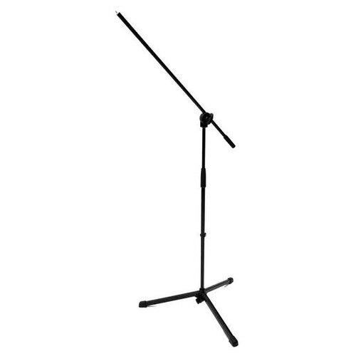 Фото - K&M 25400-300-55 Микрофонная стойка `журавль`, высота 890-1600 мм, длина журавля 680 мм, цвет черный ultimate support js mcfb50 низкая стойка микрофонная журавль н