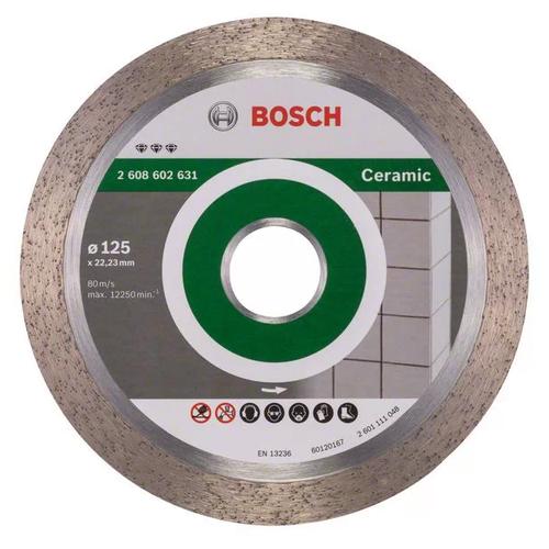 Фото - Диск алмазный отрезной BOSCH Best for Ceramic 2608602631, 125 мм 1 шт. диск алмазный отрезной bosch standard for ceramic 2608602201 115 мм 1 шт