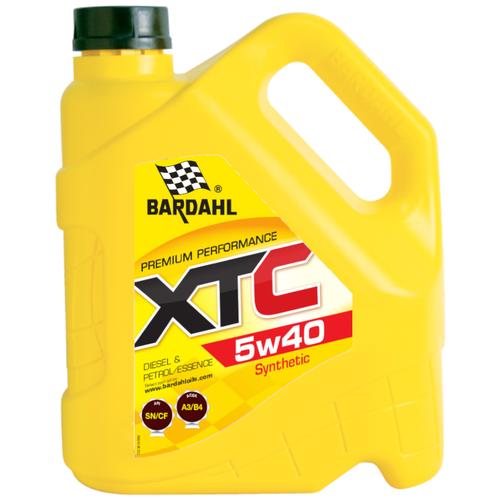 Синтетическое моторное масло Bardahl XTC 5W-40 Sn/Cf, 4 л полусинтетическое моторное масло bardahl xtc 10w 40 sl cf 4 л