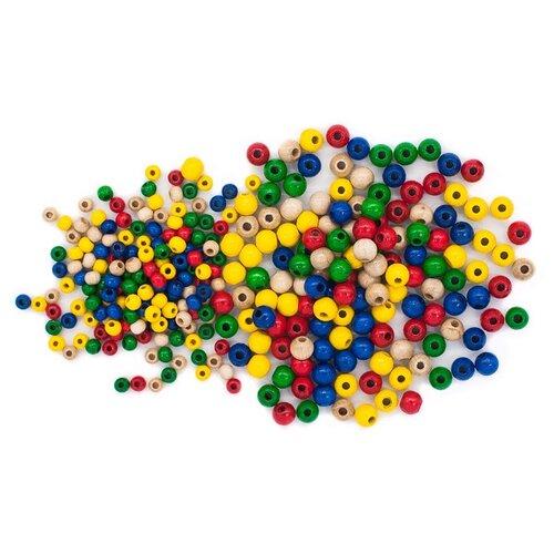 Купить Набор деревянных разноцветных бусин, 4-6мм, 273шт, Glorex, Фурнитура для украшений