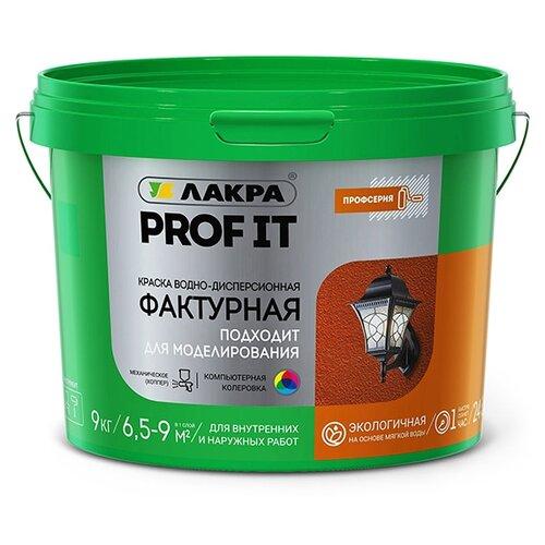 Краска акриловая Лакра Фактурная PROF IT белый 9 кг