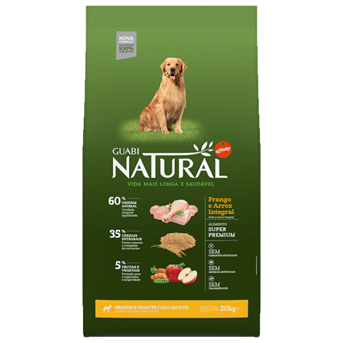 Фото - Сухой корм для собак Guabi Natural, цыпленок, с рисом 20 кг (для крупных пород) сухой корм для собак наша марка цыпленок 12 кг для крупных пород