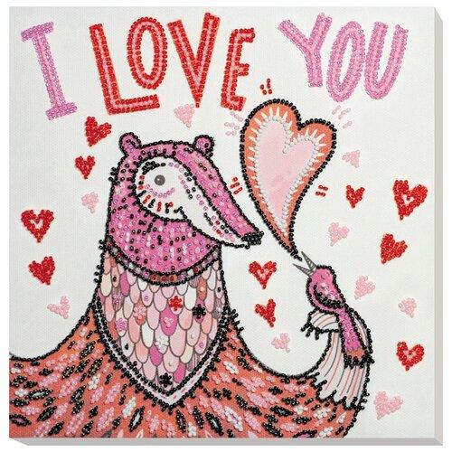Купить ABRIS ART Набор для вышивания бисером Влюблённый 20 х 20 см (AMB-056), Наборы для вышивания