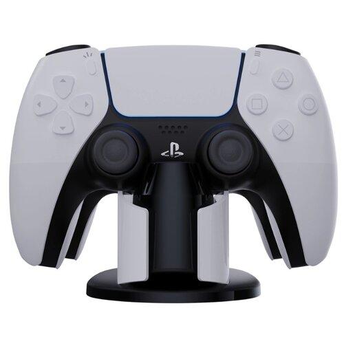 Двойное зарядное устройство/док-станция MyPads для игровой приставки PS5 геймпадов Sony PlayStation 5 с кабелем TYPE-C черно-белая