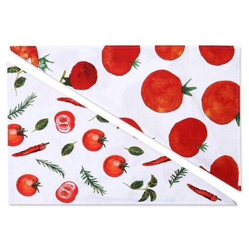 хозяйственные товары dosh home набор полотенец atira 6 шт Набор полотенец, DOSH   HOME, ATIRA, 101515, 2шт Белый, красный