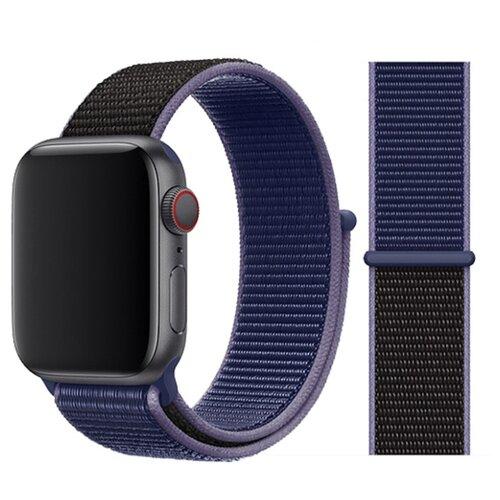 Сменный ремешок Nuobi Nylon для Apple Watch, Синий/черный 38/40 mm сменный ремешок nuobi для apple watch 38 40mm черный
