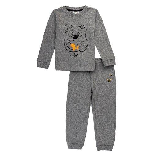 Купить Пижама Frutto Rosso размер 122, серый меланж, Домашняя одежда