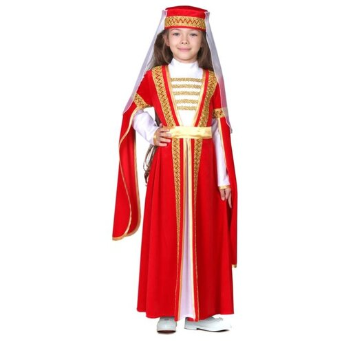 Купить Карнавальный костюм Страна Карнавалия Для лезгинки, для девочки, р. 34, рост 134-140 см, красный (3983184), Карнавальные костюмы