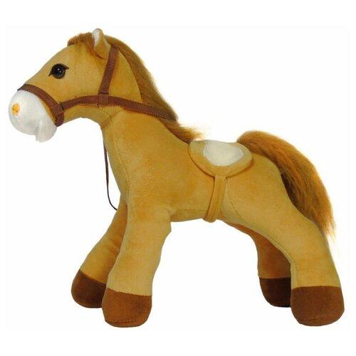 Мягкая игрушка лошадка 35 см светло-коричневый