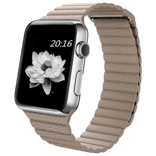 Ремешок для часов Eva для Apple Watch 42/44 mm Бежевый (AWA008BG) ремешок для часов eva для apple watch 42mm белый awa001w