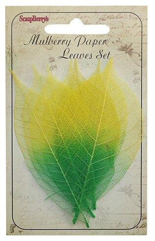 Купить Скелетированные листочки из бананового дерева, желто-зеленый, упак./8 шт., ScrapBerry