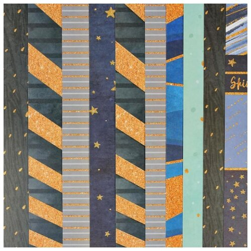 Купить Набор бумаги для скрапбукинга Арт Узор с блестками, Сказочный день , 30, 5*30, 5 см, 10 листов, 180 г/м, Бумага и наборы