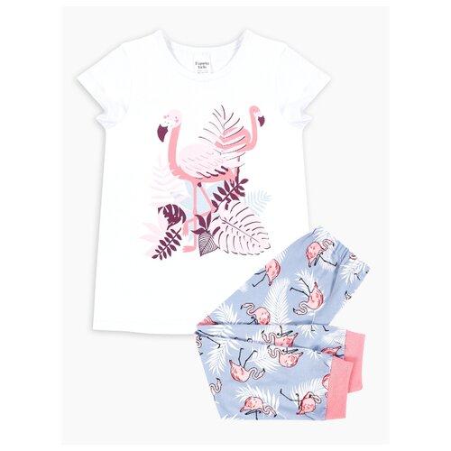 Пижама Веселый Малыш размер 98, белый/серый/розовый пижама веселый малыш размер 92 белый оранжевый