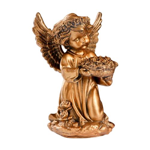 Статуэтка Хорошие сувениры Ангел с чашей цветов 21 см бронза