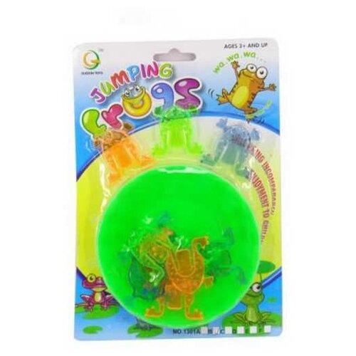 Настольная игра Junfa toys Прыгающие лягушки junfa toys настольная магнитная игра 6 в 1 junfra