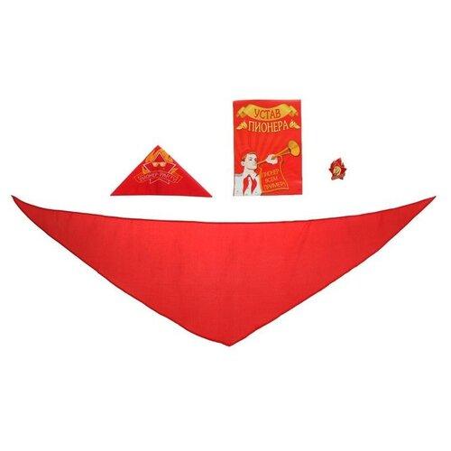 Купить Набор пионера Страна Карнавалия Пионер-party 4 предмета: галстук, пилотка, значок, устав (1123429), Карнавальные костюмы