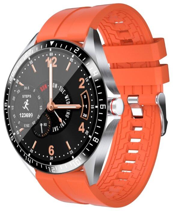Умные часы BandRate Smart BRSGW1616, оранжевый/серебристый фото 1