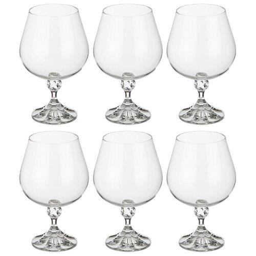 Набор бокалов для коньяка из 6 шт джулия 400 мл Bohemia Crystal (674-449)
