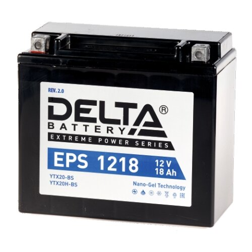 Мото аккумулятор DELTA Battery EPS 1218 (YTX20-BS / YTX20H-BS)