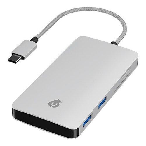USB-концентратор uBear LINK Hub 7 in 1, разъемов: 7, серебристый