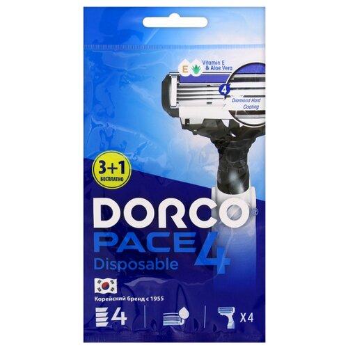 Бритвенный станок Dorco Pace 4 (одноразовый) 4 шт..