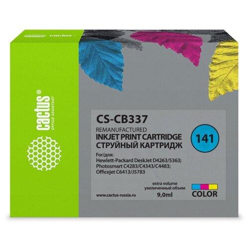 Фото - Картридж cactus CS-CB337 9 мл., совместимый bell hypoallergenic french nail enamel лак для ногтей стойкий пропускающий воздух гипоаллергенный тон 02 9 мл