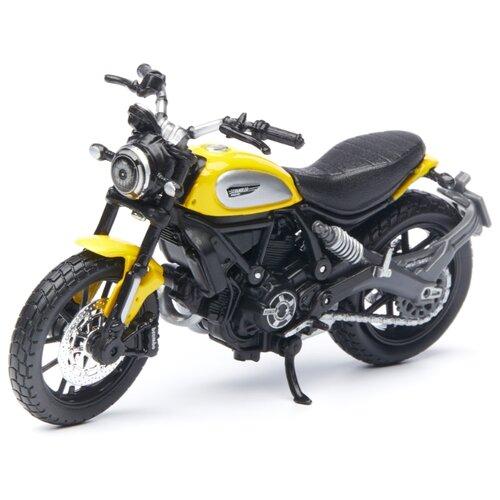 Купить Мотоцикл Maisto Ducati Scrambler (39300/1) 1:18 желтый, Машинки и техника