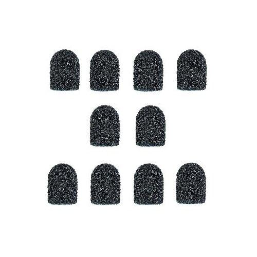 Колпачок Muhle Manikure шлифовальный супегрубый 10 мм, 60 грит, 10 шт., черный muhle manikure колпачок шлифовальный 13 мм тонкий 100 шт