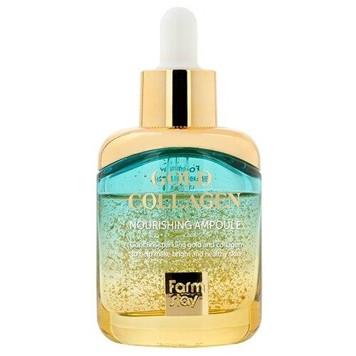 Farmstay Gold Collagen Nourishing Ampoule Ампульная сыворотка для лица с золотом и коллагеном, 35 мл недорого