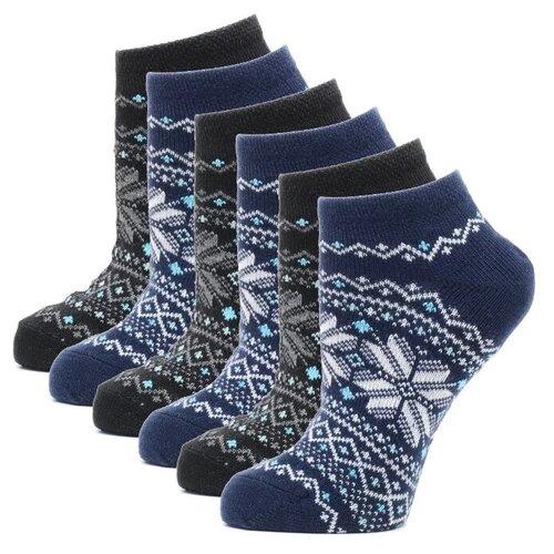 Носки HOSIERY 71716, 6 пар, размер 23-25, синий/черный