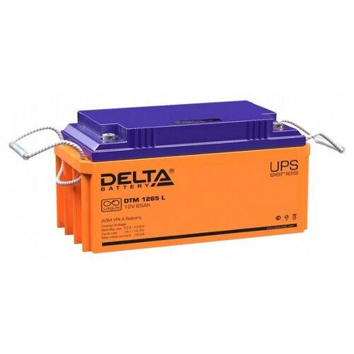 Аккумуляторная батарея DELTA Battery DTM 1265 L 65 А·ч аккумуляторная батарея delta battery dtm 1275 l 75 а·ч