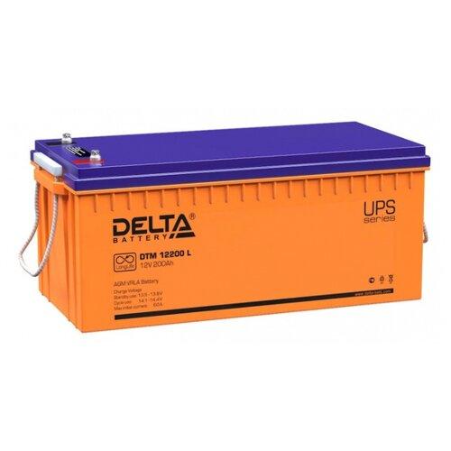 Аккумуляторная батарея DELTA Battery DTM 12200 L 200 А·ч аккумуляторная батарея delta battery dtm 1275 l 75 а·ч