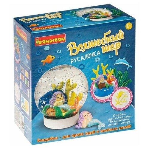 Купить Набор для творчества BONDIBON, Волшебный шар. Русалочка (водный), Пластилин и масса для лепки