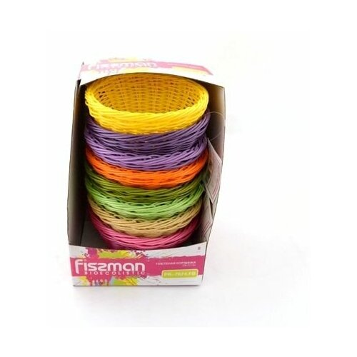Плетеная корзинка круглая Fissman 21 x 8 см 7675