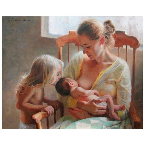 Купить Материнское счастье живопись на холсте 40х50см Paintboy GX27759, Картины по номерам и контурам