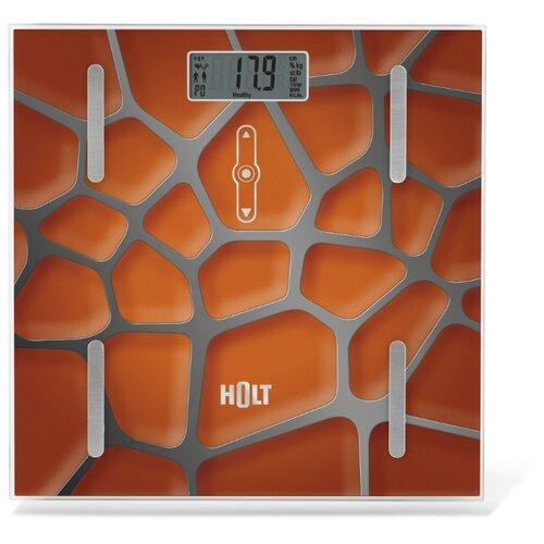 Весы напольные электронные / Платформенные весы / Бытовые напольные весы Holt HT-BS-011 оранжевые
