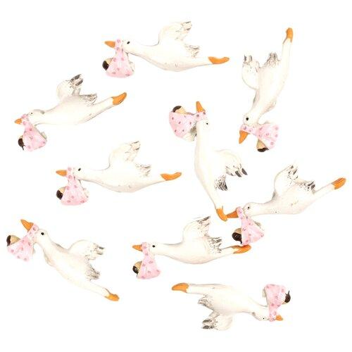 Купить SCB26003010 Набор декоративных украшений со стикером 'Аист', 4, 5*3, 3 см, упак./10 шт., ScrapBerry's, Украшения и декоративные элементы